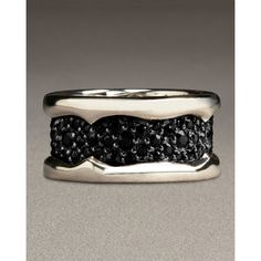 Stephen Webster Black Sapphire Men's Ring {neiman marcus} #wedding #band