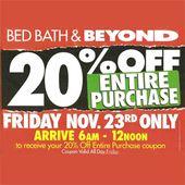 Bed Bath & Beyond Black Friday 2012 Ad