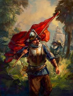 conquistador art painting