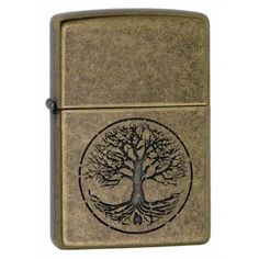 Zippo Lighter: Tree of Life - Antique Brass 29149
