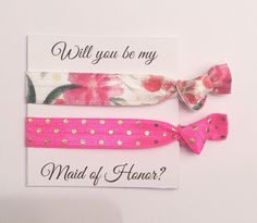 A personal favorite from my Etsy shop https://www.etsy.com/listing/279112780/bridesmaid-hair-tie-favorparty-favor