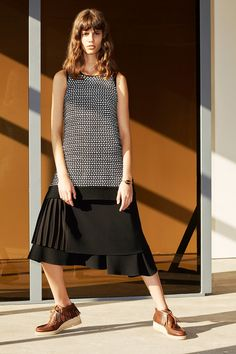 Falling hemlines are creating a new drop waist moment that I really love.  10 Crosby Derek Lam | Pre-Fall 2014 Collection | Style.com