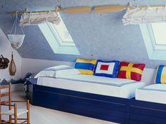 18 Marine Zimmer Interieurs für Jungen - thematische Ideen