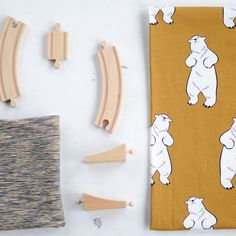 TALVINALLE, muskotti | New NOSH fabric collection for Winter 2016! Get inspired from polar bears and pastel colors. Shop this new fabric collection at en.nosh.fi