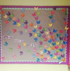 Gorgeous display! Using Twinkl's 3D butterflies, this teacher has made an inspirational display which really brightens up her classroom!