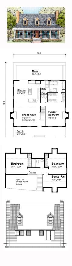 1000 Images About Cottage House Plans On Pinterest Cool
