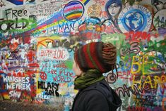 Lennon's Wall #Prague #trip #art #graffiti #dreadlocks