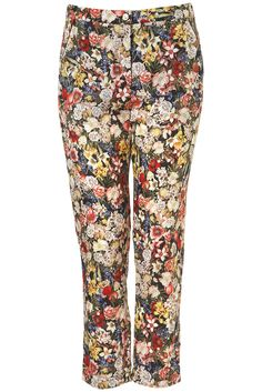 Topshop Floral Print Crop Cigarette Pants available at Harem Pants, Pajama Pants, Cigarette Trousers, Playing Dress Up, Fashion Forward, Floral Prints, Topshop, Nordstrom, How To Wear