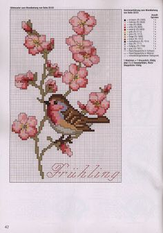 Cross Stitch Pattern free                                                                                                                                                      Mais