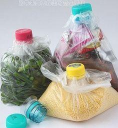 Bolsas con tapas de botella