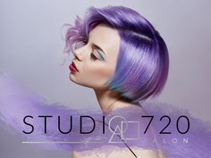 Logo design for Studio 720 Salon. The circle, square, and triangle represent the three types of stylist techniques.
