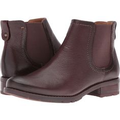 Sofft Selby (Mahogany Cow Vintage) Women's Boots (4.830 RUB) ❤ liked on Polyvore featuring shoes, boots, slip on boots, slip on ankle boots, round toe boots, pull on ankle boots and ankle boots