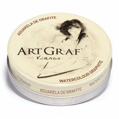 Graphite Tin by ArtGraf Wet Brush, Graphite, Art Supplies, Shops, Watercolor, Painting, Watercolour, Graffiti, Tents