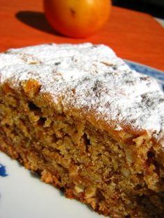 Bolo de Dióspiro - Source by liladosramos Cake Recipes, Dessert Recipes, Beach Meals, Blue Cakes, Bread Cake, Portuguese Recipes, Coffee Recipes, Sweet Bread, Food Inspiration