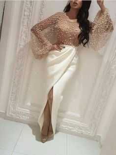 Long Sleeve Prom Dresses with Slit Scoop Sheath Beading Prom Dress Sexy Evening Dress Long Sleeve Prom Dresses with Slit Scoop Sheath Beading Prom Dress Sexy Evening Dress Prom Dresses Long With Sleeves, Modest Dresses, Sexy Dresses, Short Dresses, Fashion Dresses, Formal Dresses, Fashion Shirts, Dress Long, Long Elegant Dresses