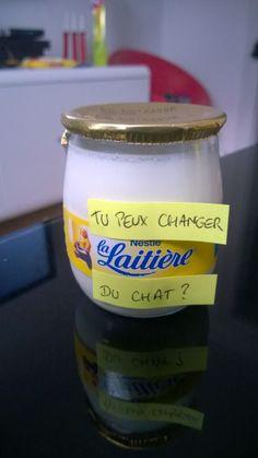 Détourner des marques, la laitière du chat. | fénoweb