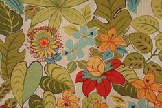 Mill Creek Raymond Waites Hokena-Terrace Printed Polyester Outdoor Fabric in Mango $8.95 per yard