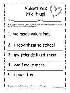 Punctuation Worksheets, First Grade Worksheets, School Worksheets, Writing Worksheets, Kindergarten Worksheets, Halloween Worksheets, Printable Worksheets, Free Printable, 1st Grade Writing