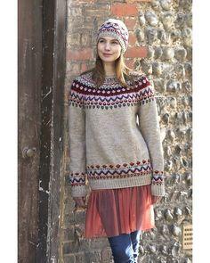 Tröja Snövit | Knittingroom Fair Isle Knitting, Knitting Yarn, Knitting Patterns, Pullover, Knit Crochet, Tunic Tops, Sewing, Clothes, Jackets