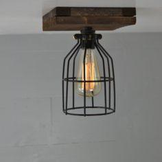 Flush Mount - Ceiling Mount - Reclaimed Wood - Wood fixture - Ceiling Light - Flush Mount Wood Light - Lighting -wood design - rustic light