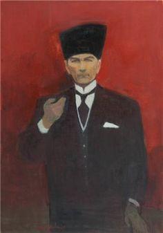 Avni Arbas (Turkish, 1919–2003) Title: Atatürk Medium: oil on canvas Size: 115 x 80 cm. (45.3 x 31.5 in.)