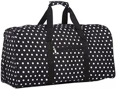 World Traveler Black White Polka Dots Gym Duffle Bag 21-inch * Read more reviews of the product by visiting the link on the image.