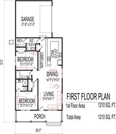 One Bedroom House Floor Plans 20x30 single story floor plan. one bedroom small house plan. move