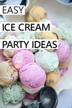 DIY and craft ideas to throw a fabulous ice cream party