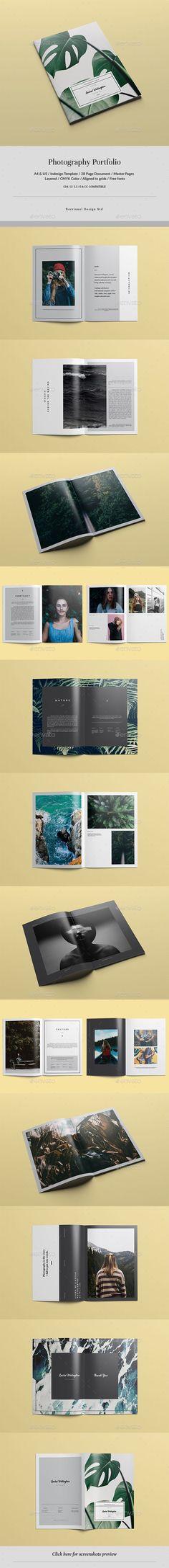 Photography Portfolio — InDesign INDD #portfolio #portfolio template