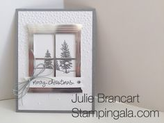 Stampin Gala: HAPPY SCENES - STAMP A STACK CARD