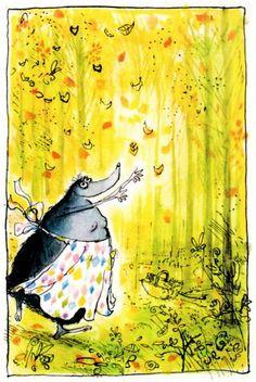 Happy Autumn! (Mrs. Mole by Ronald Searle)