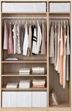 PAX Wardrobe, white stained oak effect - white stained oak effect - cm - IKEA Ikea Pax Wardrobe, Bedroom Wardrobe, Capsule Wardrobe, Organiser Son Dressing, Bedroom Furniture, Home Furniture, Wardrobe Organisation, Organisation Ideas, Organization