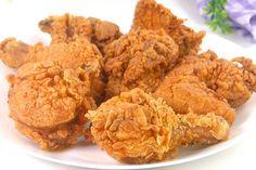 KFC style Fried Chicken Recipe by Tiffin Box Kfc Fried Chicken Recipe, Crispy Chicken, Tiffin Box, Kentucky Fried, Honey Butter, Meat Chickens, Tzatziki, Air Fryer Recipes, Fries