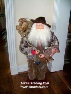 A Texas Size Cowboy Santa! Perfect for your Texas Christmas!