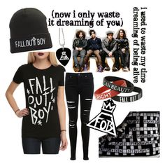 """""""Fall Out Boy Outift"""" by anna-mirra ❤ liked on Polyvore featuring Miss Selfridge and Converse"""