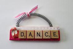Dance Ballet Shoes Scrabble Tile Ornaments by ScrabbleTileOrnament