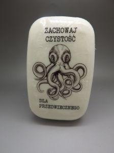 Czystość Dla Przedwiecznego, mydło decoupage, decoupage soap, octopuss, zew cthulhu