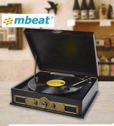 mbeat Vintage Retro USB vinyl Turntable with Bluetooth Speaker Home Theater, Theatre, Vinyl Turntable, Retro Vintage, Bluetooth, Usb, Ideas, Home Theatre, Theater