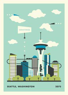 Seattle Postcard by Jacob Cummings