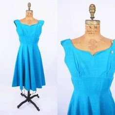 Hey, I found this really awesome Etsy listing at https://www.etsy.com/listing/269780625/1950s-dress-vintage-50s-blue-corduroy