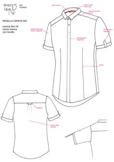 frances kaya shirt collection magnet style placket Shirt Sketch, Fashion Communication, Sewing Shirts, Fashion Vocabulary, Dress Shirts For Women, Formal Shirts, Types Of Dresses, Sewing For Kids, Dressmaking