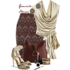 """Brown bag"" by grachy on Polyvore"