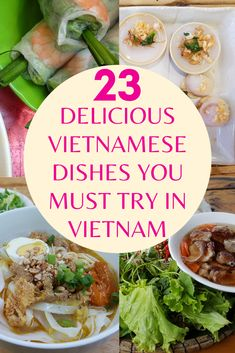 Let's take a virtual journey to Vietnam and discover the country through its cuisine. How many of these traditional Vietnamese dishes have you tried? Vietnamese Cuisine, Vietnamese Recipes, Luang Prabang, Laos, Fried Spring Rolls, Grilled Pork, Best Places To Eat, International Recipes, Foodie Travel