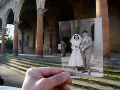 then-and-now photos in Bologna by Giuseppe Savini Great Photos, Old Photos, Cool Pictures, Pablo Picasso, Then And Now Photos, Miss Moss, Funny Wedding Photos, Love Photography, Photography Projects