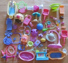 Littlest Pet Shop Lot of ACCESSORIES 50+ Pieces FREE SHIPPING