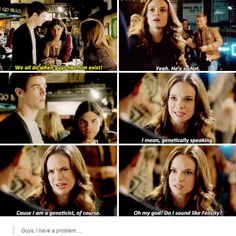 Haha that Barry saying that about becoming Oliver