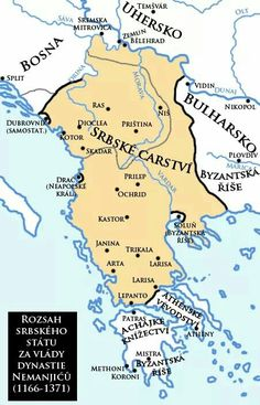 1355 ACE: The Serbian empire under Dushan. European History, Ancient History, Serbia Travel, Belgrade Serbia, Historical Maps, Serbian, History Facts, Montenegro, Family History