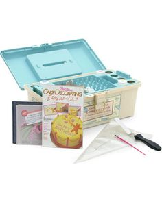 Wilton Cake Decorating Tool Set with Storage Caddy  I need this     Cake Decorating Caddy and Tools by Wilton