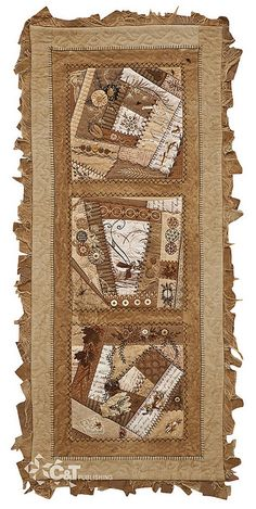 Embroidered Memories by C Publishing Never considered mixing crazy quilting with a table runner. Crazy Quilting, Crazy Quilt Stitches, Crazy Quilt Blocks, Crazy Patchwork, Patch Quilt, Quilted Table Toppers, Quilted Table Runners, Quilting Projects, Quilting Designs