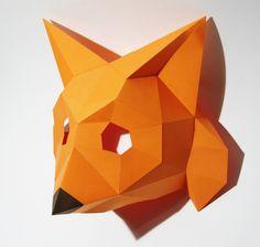 Converted Logo Animal into a Fox Mask. Made for Veebimajutus.ee, Talinn, Estonia